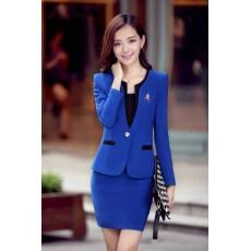 ชุดสูทผู้หญิง แฟชั่นเกาหลี2ชิ้นคุณภาพหรูหรา นำเข้า ไซส์SถึงXXL สีน้ำเงิน - พรีออเดอร์SJ2013 ราคา3000บาท