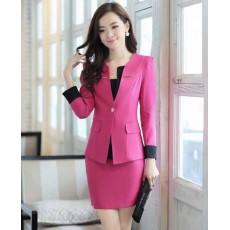 ชุดสูท แฟชั่นเกาหลีผู้หญิงสวย2ชิ้นอินเทรนด์ใหม่ นำเข้า ไซส์Sถึง3XL สีชมพู - พรีออเดอร์SJ2014 ราคา3000บาท