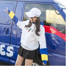 เสื้อคลุมสเวตเตอร์มีฮู้ดแฟชั่นเกาหลีตัวหลวมน่ารักผ้าสำลี นำเข้า ฟรีไซส์ - พร้อมส่งBC0061 ราคา850บาท