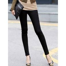 กางเกงเลคกิ้ง แฟชั่นเกาหลีเอวสูงสวยใส่สบายมีกระเป๋า นำเข้า สีดำ ไซส์Mถึง2XL พร้อมส่งTJ7146 ราคา670บาท
