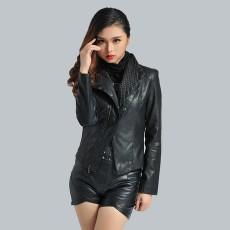 เสื้อแจ็คเก็ต แฟชั่นเกาหลีเสื้อคลุมคอวีสวยรุ่นใหม่ นำเข้า สีดำ - พร้อมส่งTJ7243 ราคา1550บาท [หมดค่ะ]