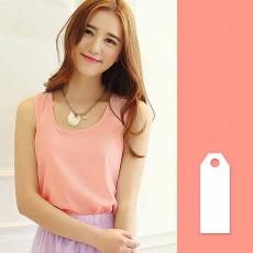 เสื้อชีฟองแขนกุด แฟชั่นเกาหลีใหม่พริ้วสวยใส่สบาย นำเข้า ฟรีไซส์ สีชมพู - พร้อมส่งTJ7287