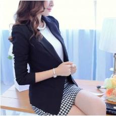 เสื้อสูท แฟชั่นเกาหลีผู้หญิงใส่ทำงานแบบกระดุม1เม็ดสวยสง่า นำเข้า สีดำ ไซส์XL - พร้อมส่งTJ7337 ราคา1250บาท [หมดค่ะ]