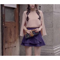 เสื้อชีฟองสีชมพู แฟชั่นเกาหลีตัวหลวมดีไซน์เสื้อคลุมไหล่สวยหรู นำเข้า ฟรีไซส์ - พร้อมส่งTJ7341 ราคา800บาท [หมดค่ะ]