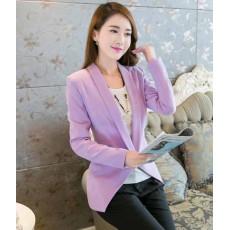 เสื้อสูท แฟชั่นเกาหลีผู้หญิงทำงานออฟฟิศแขนยาวสวยรุ่นใหม่สไตล์แบรนด์ นำเข้า สีม่วง ไซส์Lถึง2XL - พร้อมส่งTJ7513 ราคา1100บาท