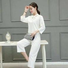 กางเกง7ส่วน แฟชั่นเกาหลีเนื้อผ้าใส่สบายสวยรุ่นใหม่ นำเข้า ไซส์28 สีขาว - พร้อมส่งTJ7525 ราคา790บาท