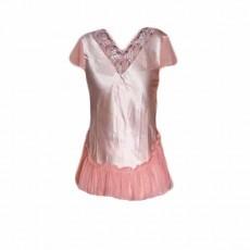 เสื้อนอน ผ้าซาตินแฟชั่นจากเอาท์เล็ทมีตำหนิเล็กน้อย ไซส์L นำเข้า สีโอรส - พร้อมส่งTJ7541 ลดพิเศษ59บาท