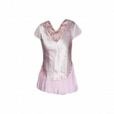 เสื้อนอน ผ้าซาตินแฟชั่นจากเอาท์เล็ทมีตำหนิเล็กน้อย ไซส์M นำเข้า สีชมพู - พร้อมส่งTJ7541ลดพิเศษ250บาท