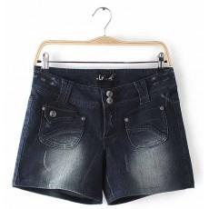 กางเกงยีนส์ขาสั้น แฟชั่นเกาหลีน่ารักสำหรับคนอ้วนสาวไซส์ใหญ่ นำเข้า เอว38 - พร้อมส่งTJ7560 ราคาลดพิเศษ