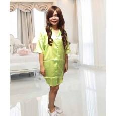 ชุดนอน แฟชั่นเกาหลี ผ้าซาตินใส่สบายสวย ฟรีไซส์ นำเข้า สีเขียวอ่อน - พร้อมส่งBO7038 ลดราคา99บาท