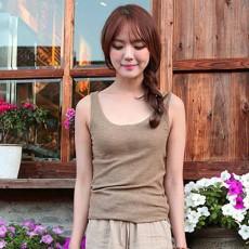 เสื้อยืดแขนกุด แฟชั่นเกาหลีผู้หญิงสไตล์แคชชวลสบายๆสวยหวานน่ารัก นำเข้า สีน้ำตาลอ่อน ไซส์L - พร้อมส่งTJ7587 ราคา350