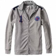 เสื้อแจ็คเก็ต แฟชั่นเกาหลีใหม่ปักโลโก้วินเทจใส่ได้ทั้งชายหญิง นำเข้า ไซส์L สีเทา - พร้อมส่งTJ7614 ราคา1100บาท
