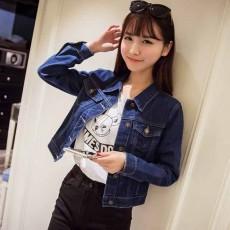 เสื้อแจ็คเก็ตยีนส์ ผู้หญิงแฟชั่นเกาหลีแขนยาวเอวตรงสวย DENIM JACKET นำเข้า ไซส์S - พร้อมส่งTJ7627 ราคา990บาท