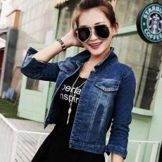 เสื้อแจ็คเก็ตยีนส์ ผู้หญิงแฟชั่นเกาหลีแขน3ส่วนเอวตรงสวยเข้ารูปเซ็กซี่ ส่งออก ฟรีไซส์ - พร้อมส่งTJ7654 ราคา850บาท