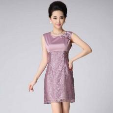 ชุดผ้าไหม แขนกุดแฟชั่นเกาหลีหรูลายดอกไม้ นำเข้า ไซส์2XLและ3XL สีชมพู - พร้อมส่งTJ7674 ราคา1990บาท