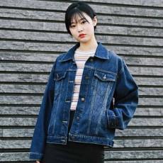 เสื้อแจ็คเก็ตยีนส์ ผู้หญิงแฟชั่นเกาหลีแขนยาวเอวตรงทรงหลวมเทรนด์ใหม่ ฟรีไซส์ - พร้อมส่งTJ7706 ราคา990บาท