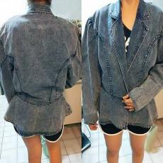 เสื้อแจ็คเก็ตยีนส์ ผู้หญิงแฟชั่นเกาหลีแขนยาวพองเอวระบายอินเทรนด์ ส่งออก ฟรีไซส์ - พร้อมส่งTJ7709 ราคา1200บาท