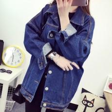เสื้อแจ็คเก็ตยีนส์ ผู้หญิงแฟชั่นเกาหลีแขนยาวเอวตรงทรงหลวมเทรนด์ใหม่ ฟรีไซส์ สียีนส์เข้ม - พร้อมส่งTJ7728 ราคา990บาท