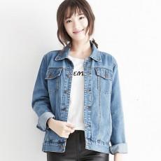 เสื้อแจ็คเก็ตยีนส์ ผู้หญิงแฟชั่นเกาหลีแขนยาวเอวตรงทรงหลวมเทรนด์ใหม่ ฟรีไซส์ สียีนส์ฟอก - พร้อมส่งTJ7729 ราคา990บาท