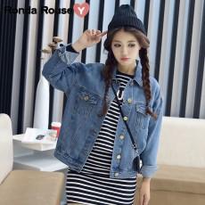 เสื้อแจ็คเก็ตยีนส์ ผู้หญิงแฟชั่นเกาหลีแขนยาวเอวตรงทรงหลวมเทรนด์ใหม่ ฟรีไซส์ สียีนส์ฟอก - พร้อมส่งTJ7730 ราคา990บาท