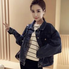 เสื้อแจ็คเก็ตยีนส์ ผู้หญิงแฟชั่นเกาหลีแขนยาวเอวตรงทรงหลวมเทรนด์ใหม่ ฟรีไซส์ สียีนส์กรมท่า - พร้อมส่งTJ7733 ราคา990บาท