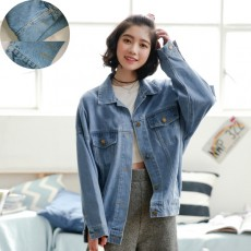 เสื้อแจ็คเก็ตยีนส์ ผู้หญิงแฟชั่นเกาหลีแขนยาวเอวตรงทรงหลวมเทรนด์ใหม่ ฟรีไซส์ สียีนส์ฟอก - พร้อมส่งTJ7739 ลดราคา890บาท