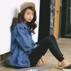 เสื้อแจ็คเก็ตยีนส์ ผู้หญิงแฟชั่นเกาหลีแขนยาวเอวตรงทรงหลวมเทรนด์ใหม่ ฟรีไซส์ สียีนส์ฟอก - พร้อมส่งTJ7746 ราคา990บาท