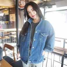 เสื้อแจ็คเก็ตยีนส์แท้ ผ้าหนาเดนิมทรงสวยแนววินเทจแฟชั่นเกาหลีฮิปสเตอร์ ฟรีไซส์ สียีนส์ - พร้อมส่งTJ7760 ราคา990บาท