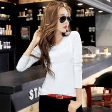 เสื้อยืดแขนยาว แฟชั่นเกาหลีผู้หญิงน่ารัก นำเข้า สีขาว - พร้อมส่งBL0147 ราคา380บาท