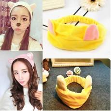 ที่คาดผมหูแมวขนนุ่มแฟชั่นเกาหลีผ้ายืดสำหรับแต่งหน้าทำสปาพอกหน้า นำเข้า สีเหลือง - พร้อมส่งBH0023 ราคา99บาท