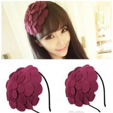 ที่คาดผม แต่งดอกไม้ใหญ่หรูหราเบาสวมสบายสำหรับทุกคนแฟชั่นเกาหลี นำเข้า สีแดงม่วง - พร้อมส่งW019 ราคา300บาท