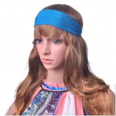 ที่คาดผม แฟชั่นเกาหลีผ้ายืดใส่เที่ยวเล่นโยคะกระชับ นำเข้า สีฟ้า - พร้อมส่งW082 ราคา 180 บาท