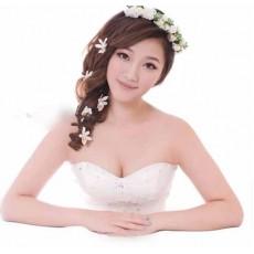 ที่คาดผม สำหรับไปงานแต่งงานดอกกุหลาบสีขาวสวยมากแฟชั่นเกาหลี นำเข้า สีขาว - พร้อมส่งW126 ราคา199บาท