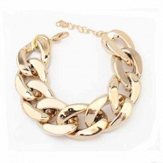 สร้อยข้อมือ แฟชั่นสายโซ่วินเทจใส่ได้ทั้งชายหญิง Gold Chain Bracelet นำเข้า สีทอง - พร้อมส่งW273 ราคา180บาท