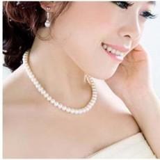 สร้อยคอมุก แฟชั่นเกาหลีใส่งานราตรีงานแต่งงาน นำเข้า สีขาว - พร้อมส่งW378 ลดราคา 119 บาท