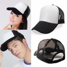 หมวกแก๊ปแฟชั่นเกาหลี ชายหญิงอินเทรนด์ปรับขนาดได้ระบายอากาศสไตล์เบสบอล นำเข้า สีขาวดำ - พร้อมส่งW391 ราคา290บาท