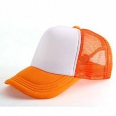 หมวกแก๊ปแฟชั่นเกาหลี ชายหญิงอินเทรนด์ปรับขนาดได้ระบายอากาศสไตล์เบสบอล นำเข้า สีขาวส้ม - พร้อมส่งW391 ราคา290บาท