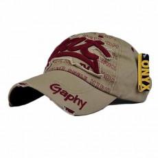 หมวกแก๊ปแฟชั่นเกาหลี ชายหญิงอินเทรนด์ปักลายเทรนด์สไตล์กีฬา BAT Hat นำเข้า สีกากี - พร้อมส่งW393 ราคา590บาท