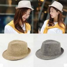 หมวกแฟชั่นเกาหลี อินเทรนด์ใส่ได้ทั้งชายหญิงสไตล์สานฮิตแบบดารา นำเข้า มีสีเทาและกากี - พร้อมส่งW427 ราคา490บาท