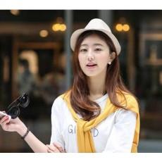 หมวกแฟชั่นเกาหลี อินเทรนด์ใส่ได้ทั้งชายหญิงสไตล์สานฮิตแบบดารา นำเข้า มีสีเทา - พร้อมส่งW427 ราคา490บาท