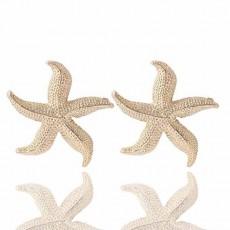ต่างหูรูปปลาดาว ห้าแฉกหรูหราใหม่แฟชั่นสวย Elegant Golden Star Earrings นำเข้า สีทอง - พร้อมส่งW451 ลดราคา99บาท