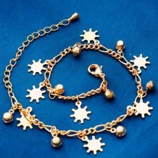 กำไลข้อมือ แฟชั่นเกาหลีสร้อยคริสตัลรูปเกล็ดหิมะสวยน่ารักใหม่ 18K Gold Bracelet นำเข้า สีทอง - พร้อมส่งW454 ลดราคา129บาท