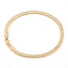 สร้อยข้อมือผู้ชาย แฟชั่นสายโซ่ตันรุ่นใหม่ 18K Gold Men Bracelet นำเข้า สีทอง - พร้อมส่งW492 ราคา300บาท