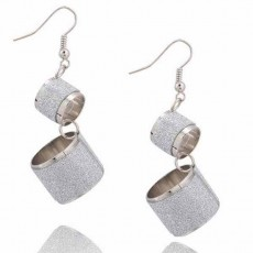 ต่างหูระย้า แฟชั่นเกาหลีเนื้อทรายหรูมาก Gothic Chandelier Earrings นำเข้า สีเงิน - พร้อมส่งW546 ลดราคา99บาท
