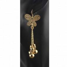 ต่างหูระย้า แฟชั่นเกาหลีผีเสื้อแต่งตุ้งติ้งสวยหรู 18K Drop Dangle Earrings นำเข้า สีทอง - พร้อมส่งW557 ลดราคา99บาท