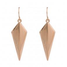 ต่างหูห่วง แฟชั่นเกาหลีทรงกราฟิกสวยมีสไตล์ Geometry 14K Hoop Earrings นำเข้า สีทอง - พร้อมส่งW581 ลดราคา99บาท