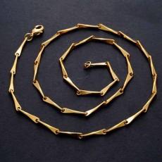 สร้อยคอแฟชั่น เส้นเล็กดีไซน์กราฟิกแบบสายโซ่ทองต่อกัน 24K Gold Necklace นำเข้า สีทอง - พร้อมส่งW652 ราคา300บาท