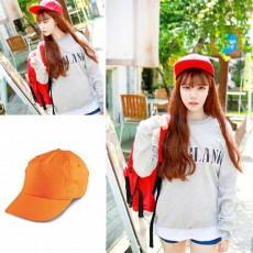 หมวกแก๊ปแฟชั่นเกาหลี ชายหญิงอินเทรนด์ปักเทรนด์สไตล์กีฬา นำเข้า สีส้ม - พร้อมส่งW688 ราคา290บาท