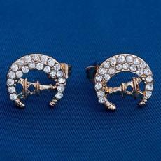 ต่างหูคริสตัล ของขวัญแฟชั่นเกาหลีรูปหอดวงจันทร์ 18K CZ Moon Tower Earrings นำเข้า - พร้อมส่งW730 ลดราคา99บาท