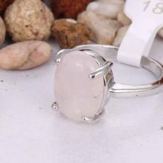 แหวนเงินหินสี นำโชค size 7.5 Silver Jade Ring นำเข้า หินสีชมพู - พร้อมส่งW764 ราคา450บาท